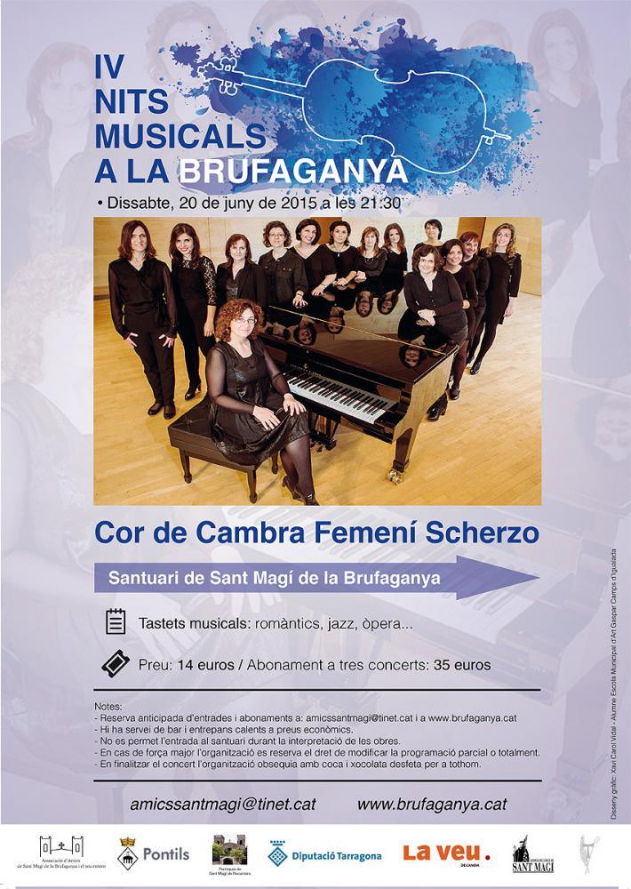 Cartell Cor Scherzo a les IV Nits Musicals a la Brufaganya